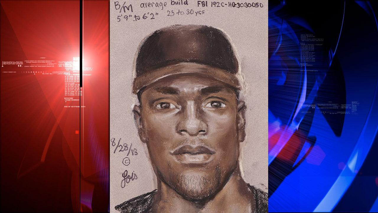 Sketch of suspect in armored car heist
