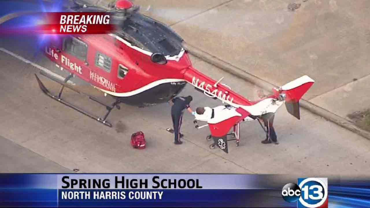 Authorities are on the scene of a stabbing at Spring High School