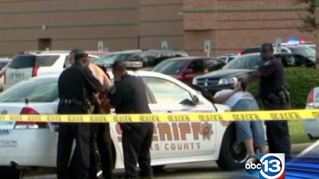 HCSO deputies took two suspects into custody outside Spring High School