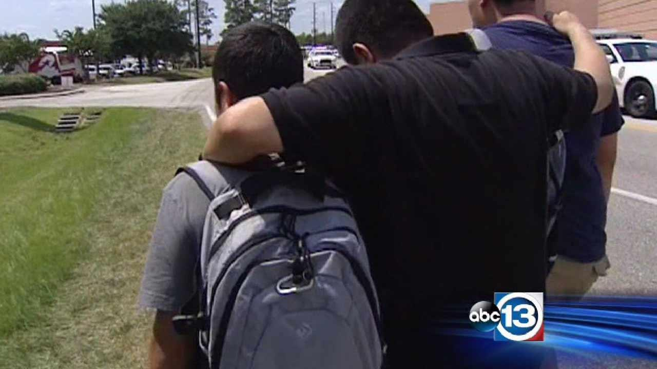 Parents were anxious to see their kids after news spread of a fatal stabbing on their school campus. <span class=meta>(ABC13)</span>
