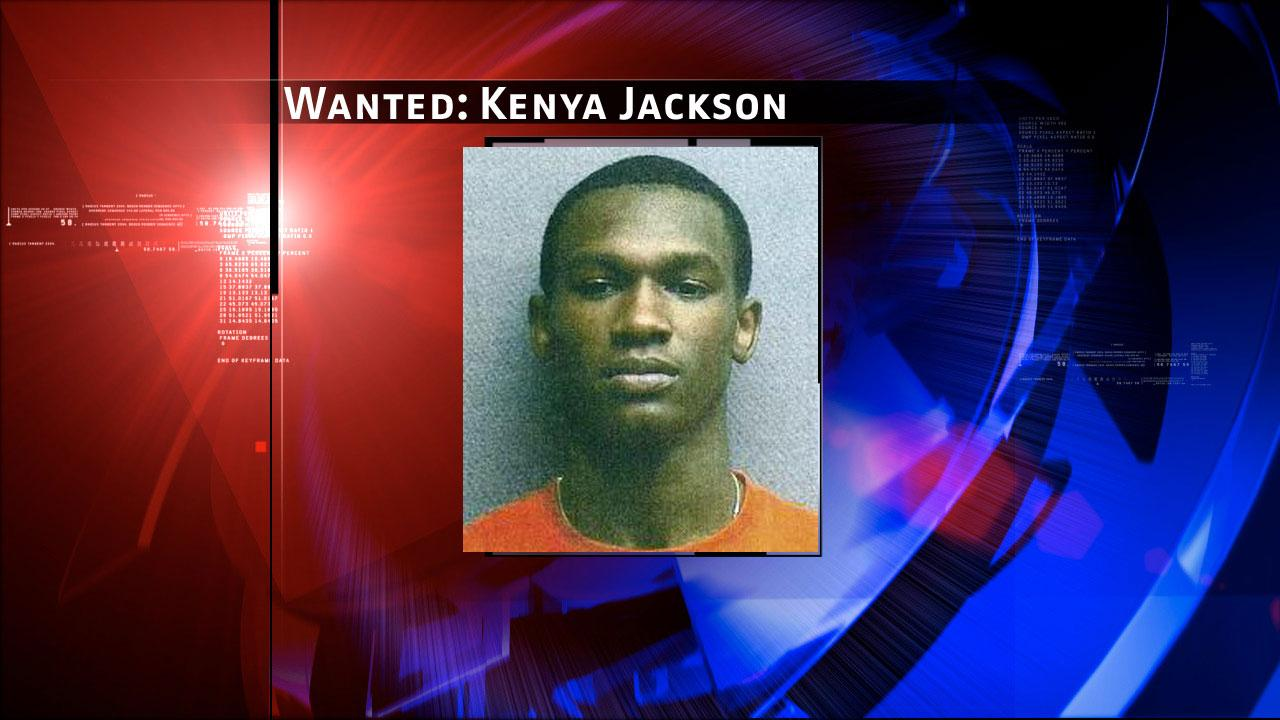 Kenya Jackson, 20, is charged with capital murder and remains at large