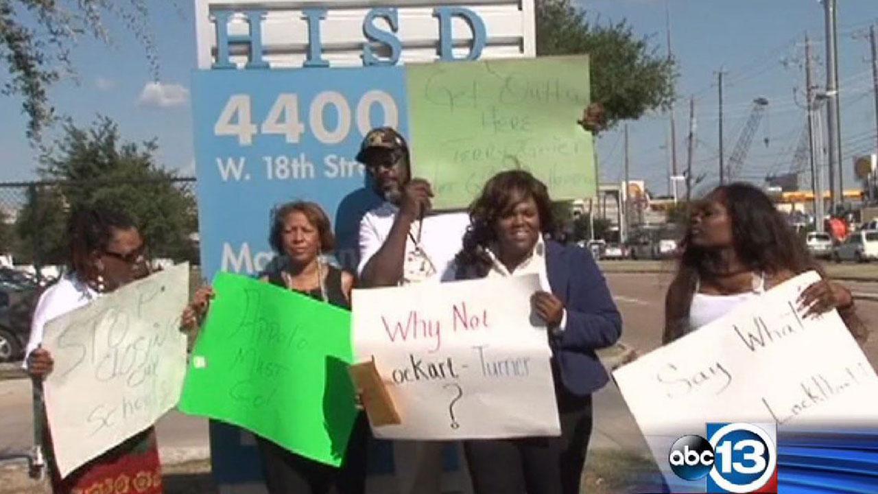 HISD parent protest