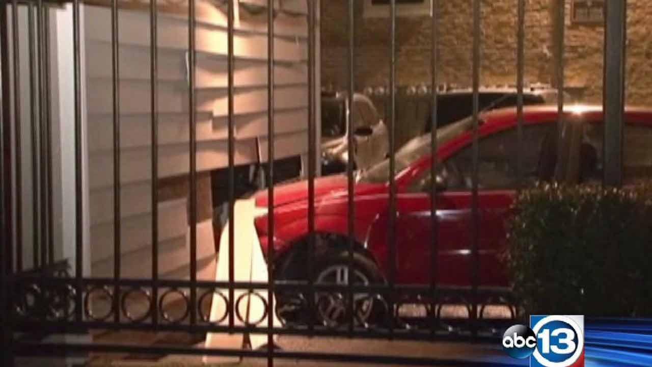 Driver hits garage