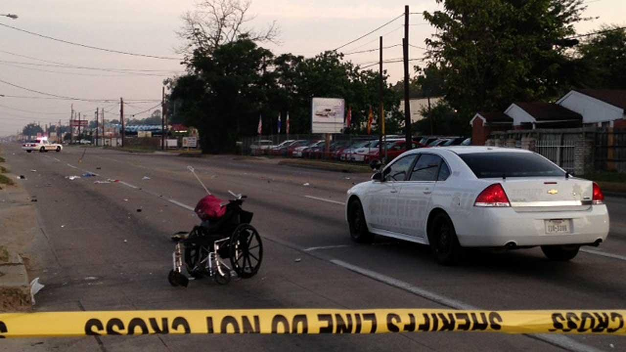 Man in wheelchair fatally struck by pickup truck in hit-and-run crash
