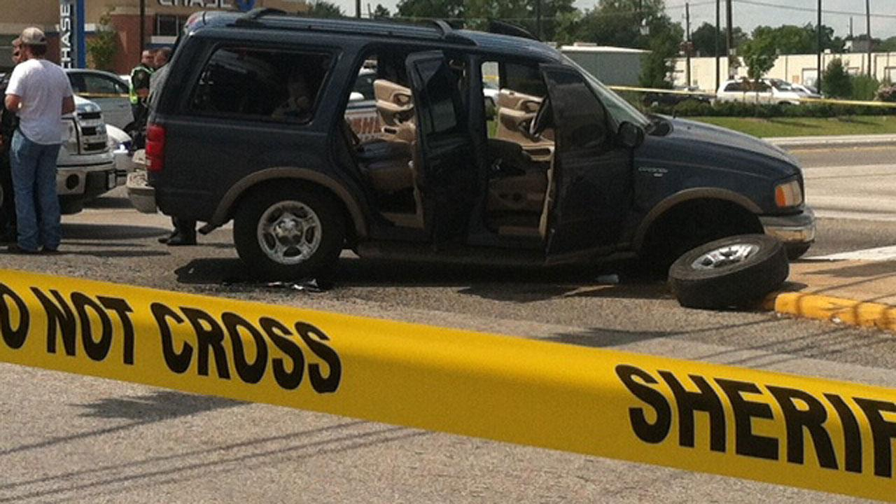 A chase involving a dark colored SUV came to an end on Veterans Memorial at Antoine