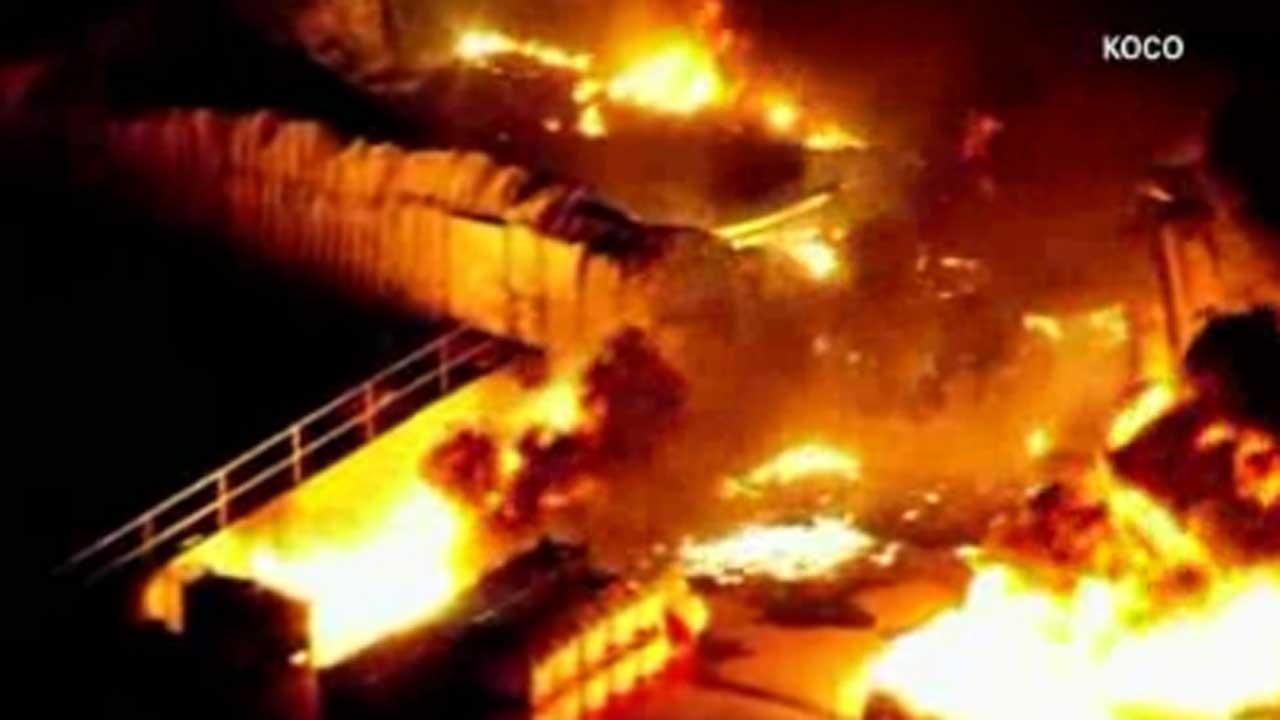Evacuations ordered after blasts at Oklahoma plant
