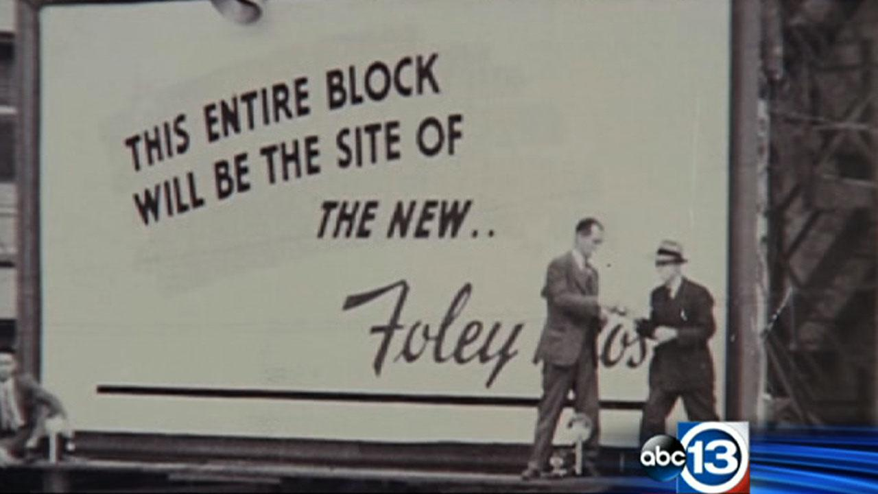 Macys building imploded in downtown Houston opened in 1947 as Foleys