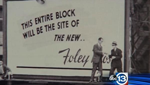 Macy's building imploded in downtown Houston opened in 1947 as Foley's