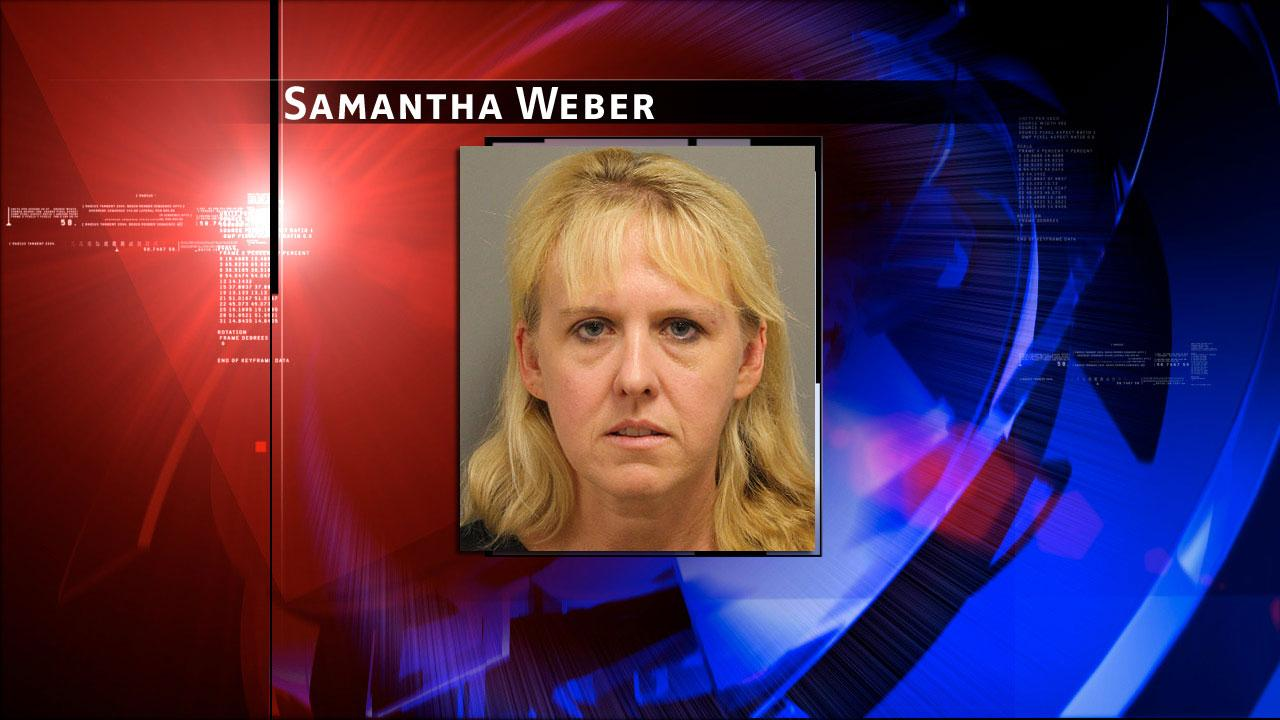 Samantha Weber, 38, is accused of online impersonation