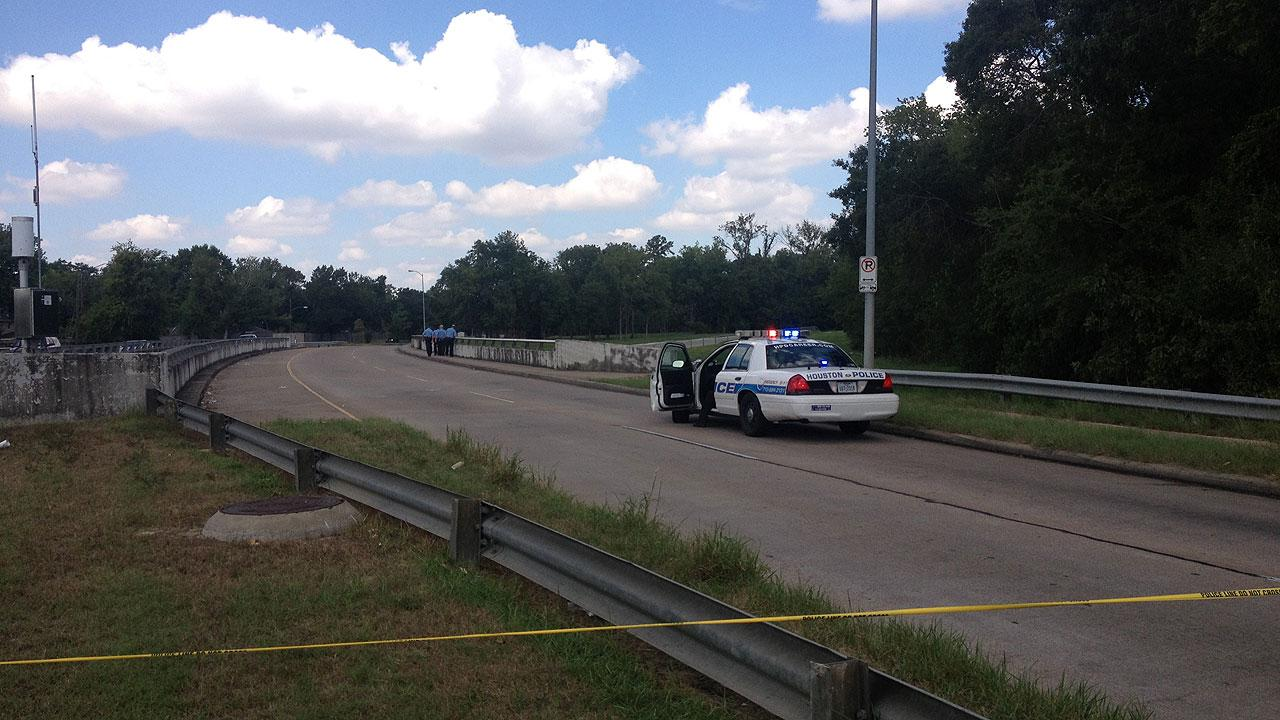 Houston police are investigating after a body was found in White Oak Bayou