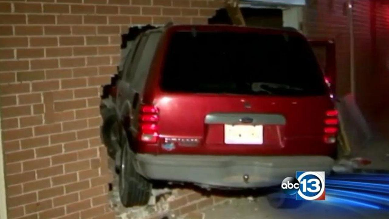 SUV in church
