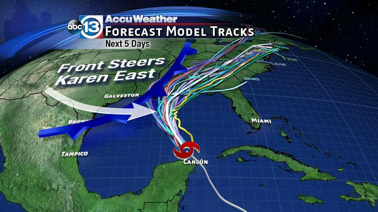 Tropical Storm Karen forms in southern Gulf of Mexico
