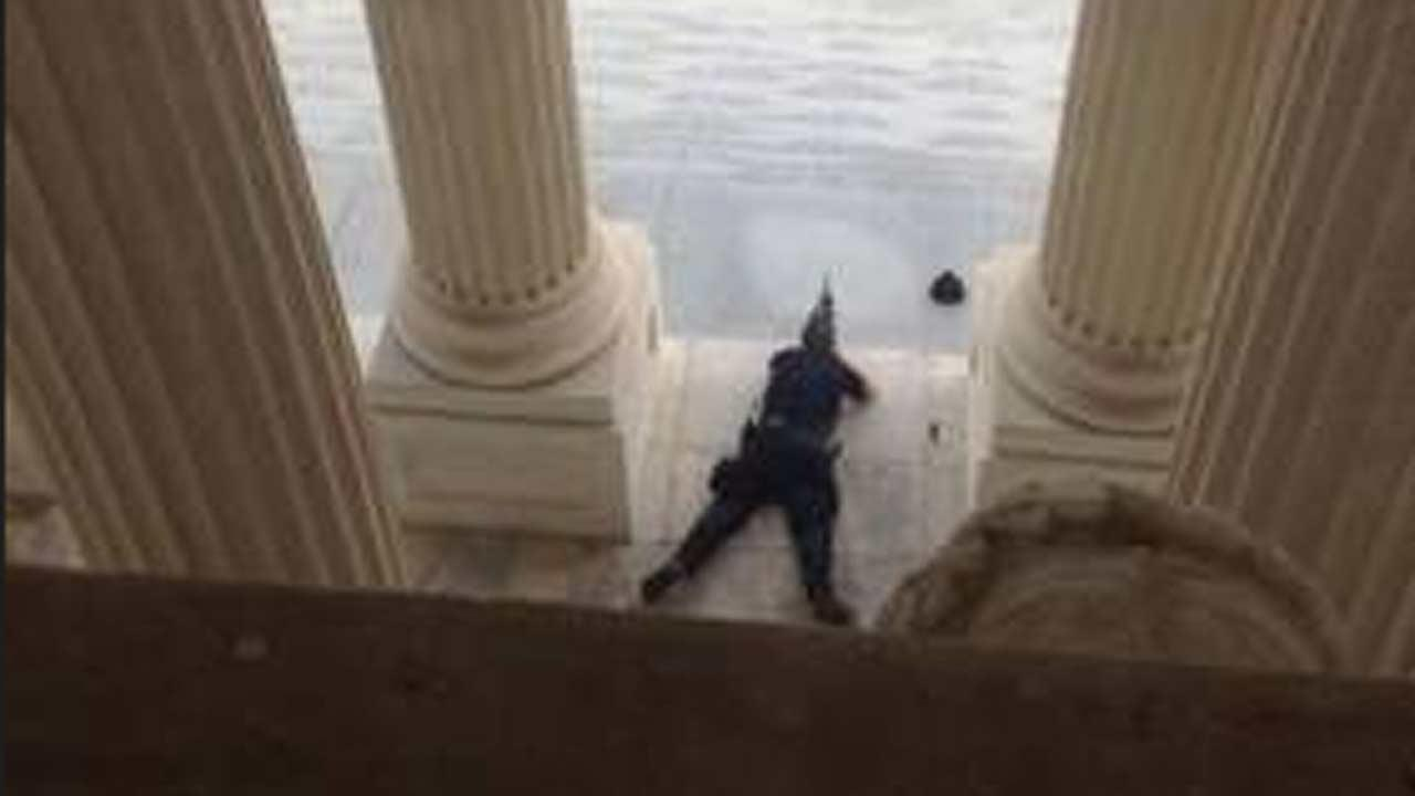 Shots fired at US Capitol (CREDIT: Alex Leary / Tampa Bay Times)