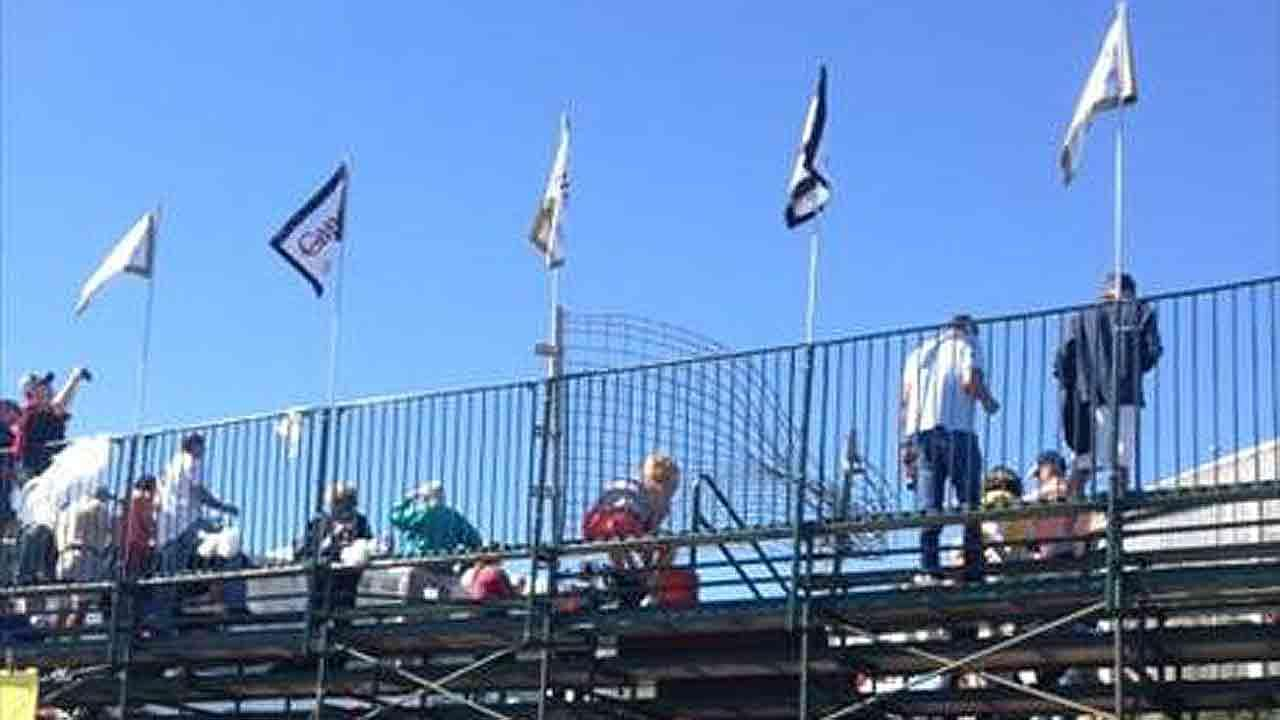 A crash sent debris into the stands at the Grand Prix of Houston. Officials say more than a dozen spectators were injured. <span class=meta>(iWitness Reports)</span>