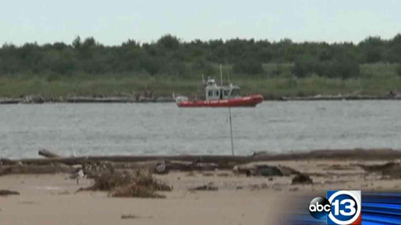 U.S. Coast Guard crews search for two men missing in Brazoria County