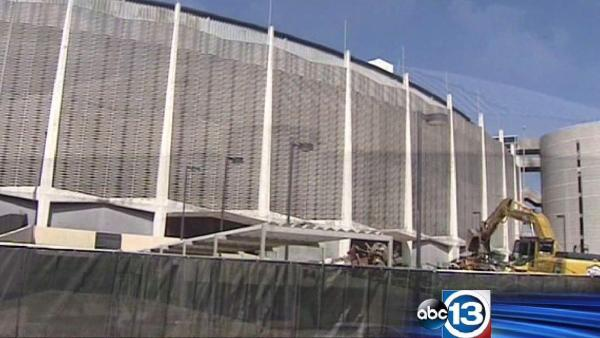 Demolition work underway at Astrodome