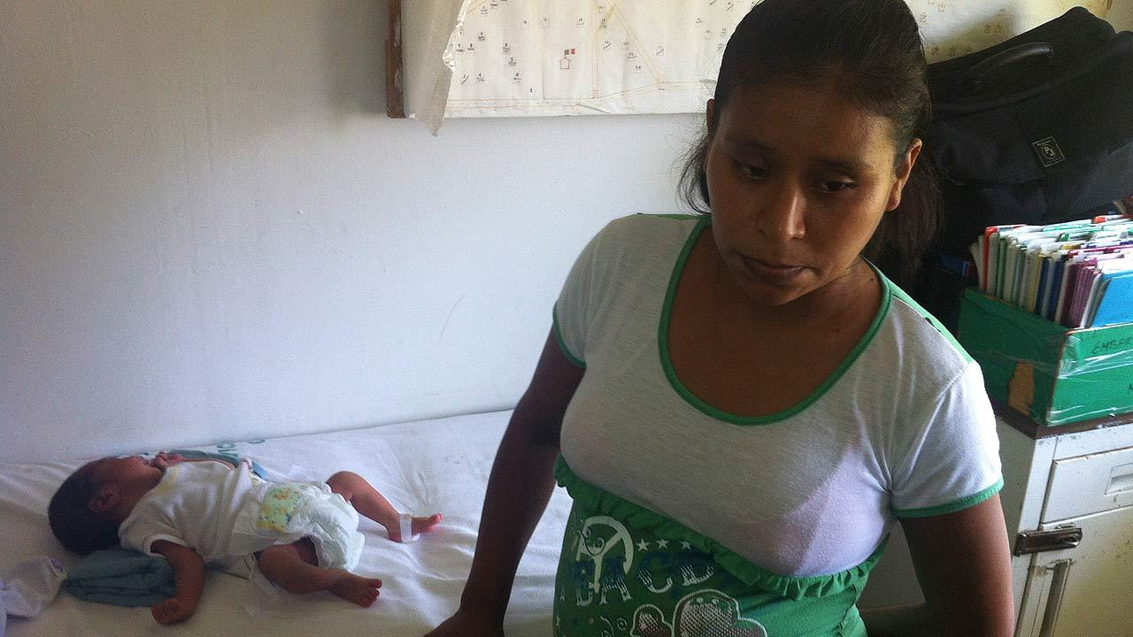 Irma Lopez gave birth alone on the lawn to a medical clinic in Mexico