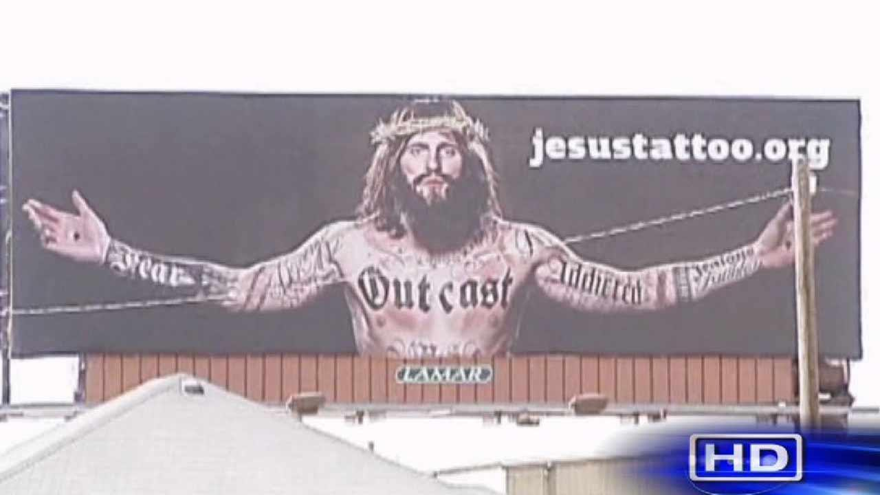 The group behind the billboards says its all part of a campaign to bring the message of Jesus love to everyone.