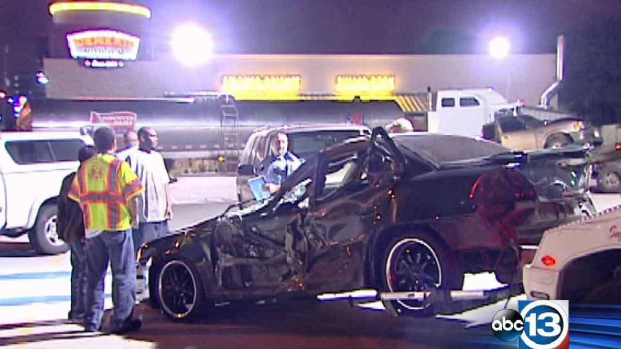 The accident happened last night on  610 near the Northwest Freeway.