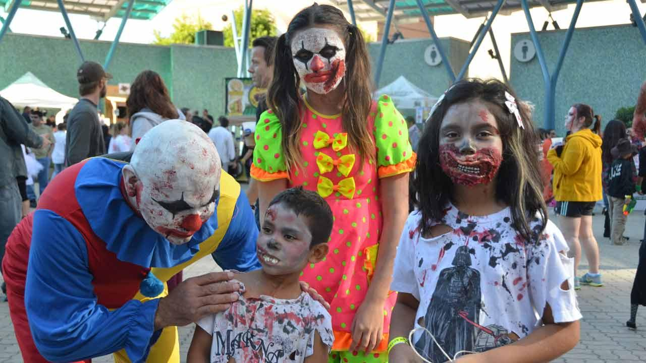 Downtown Houston was invaded by zombies this weekend.  It was all part of a fundraising effort by the Houston Zombie Walk to benefit Houston Childrens Charity, the Houston Humane Society and the Dove Key Ranch Wildlife Center