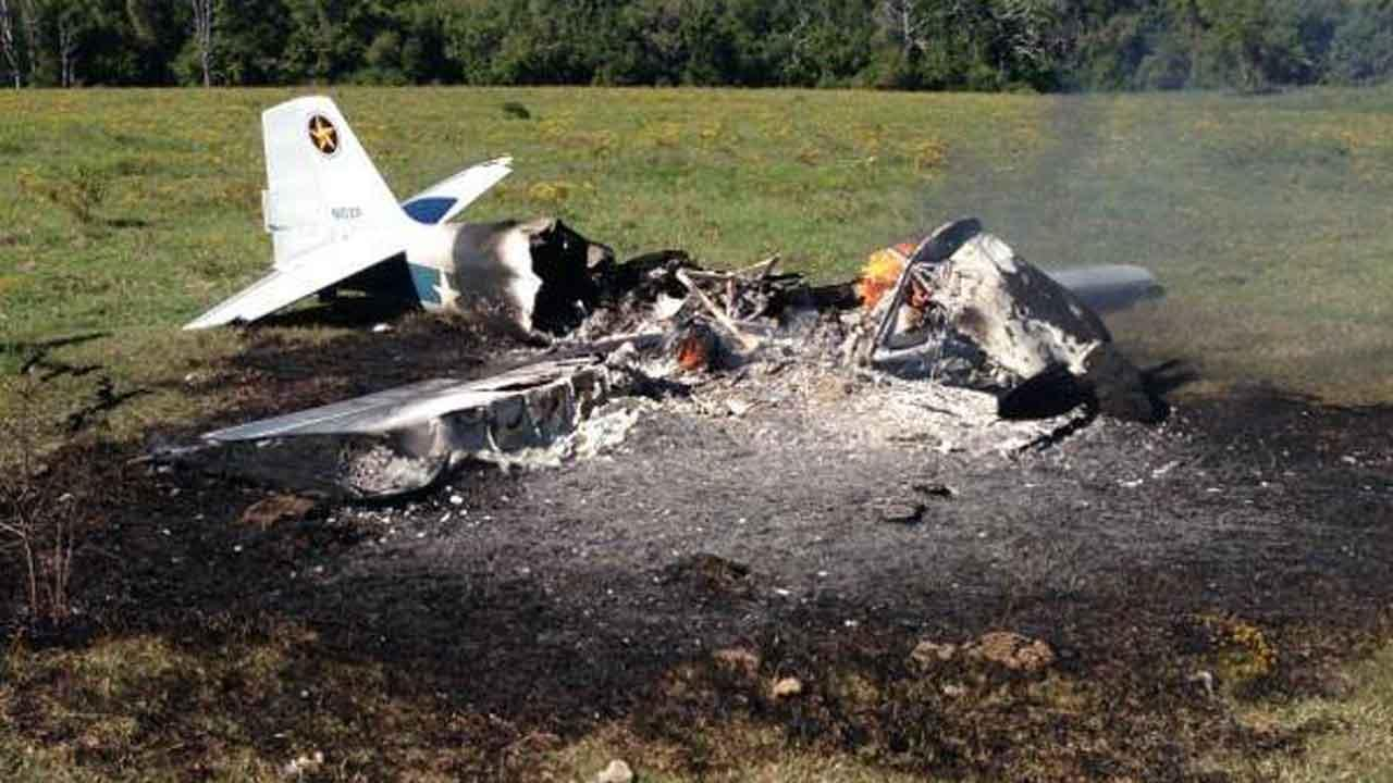 Plane crash in Walker County near New Waverly