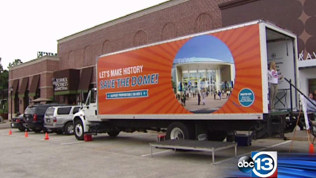 The Save the Dome Coalition will tour the Dome-Mobile through next Tuesday, November 5, which is Election Day.