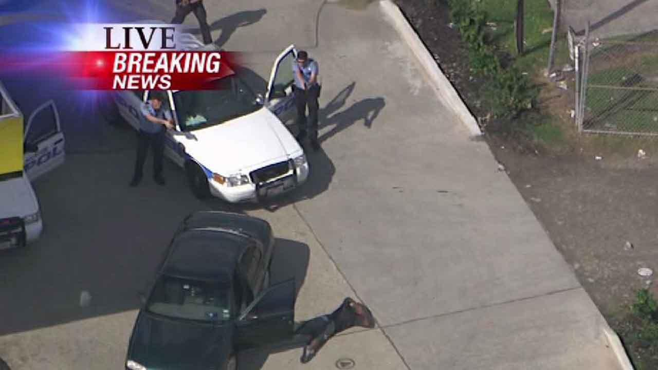 Chase suspect gives up to police in southwest Houston