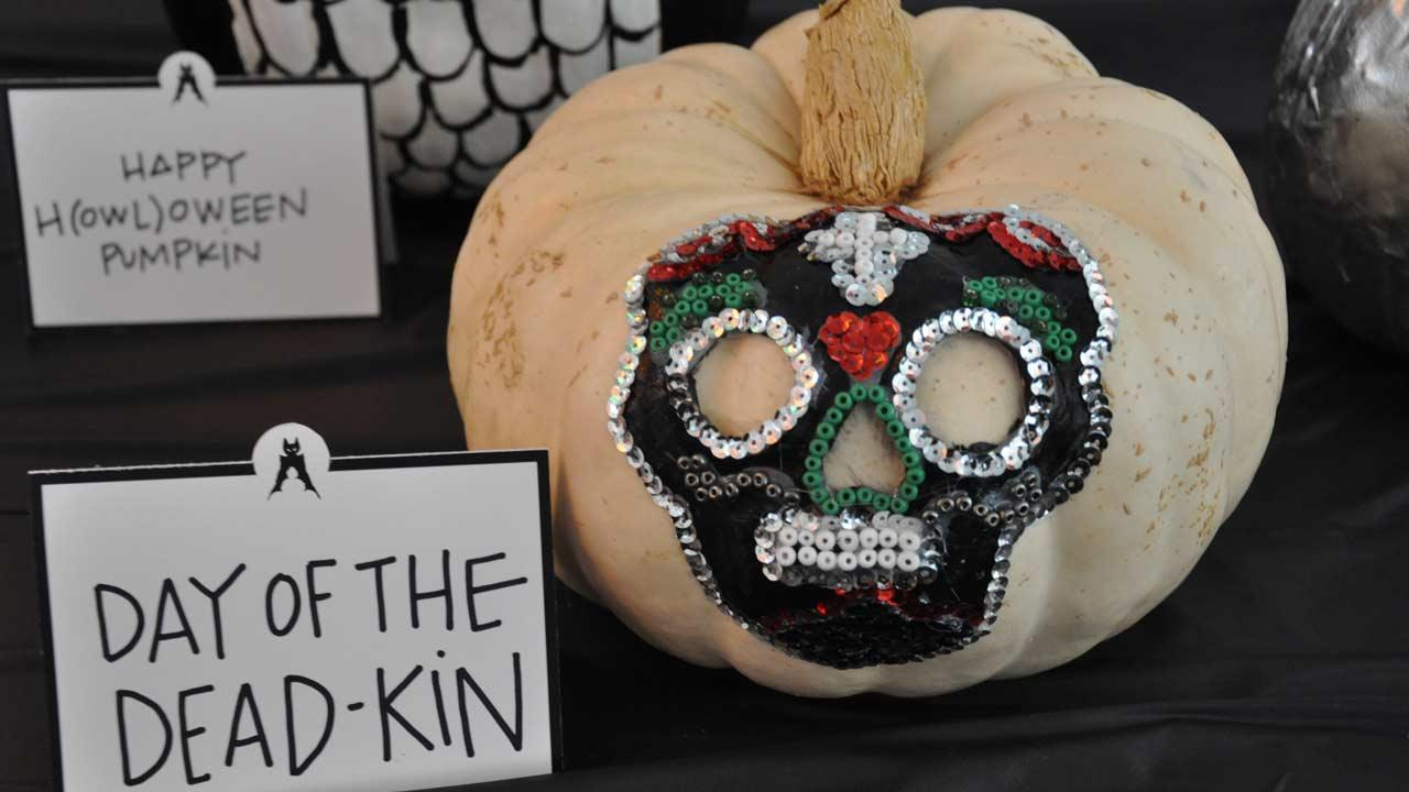 Photos from the Annual Pumpkin Carving Contest -- Cast your vote for your favorite at <a hrefhttp://www.batcetera.com./ target_blank>batcetera.com</a> <span class=meta>(Blanca Beltran)</span>