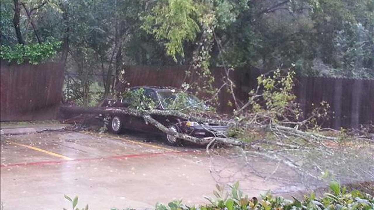 These are images our viewers sent in to us through iWitness reports of storms that moved through our area Thursday, October 31, 2013. If you have photos or video of the storms or damage, email them to us at news@abc13.com <span class=meta>(iWitness Photo)</span>