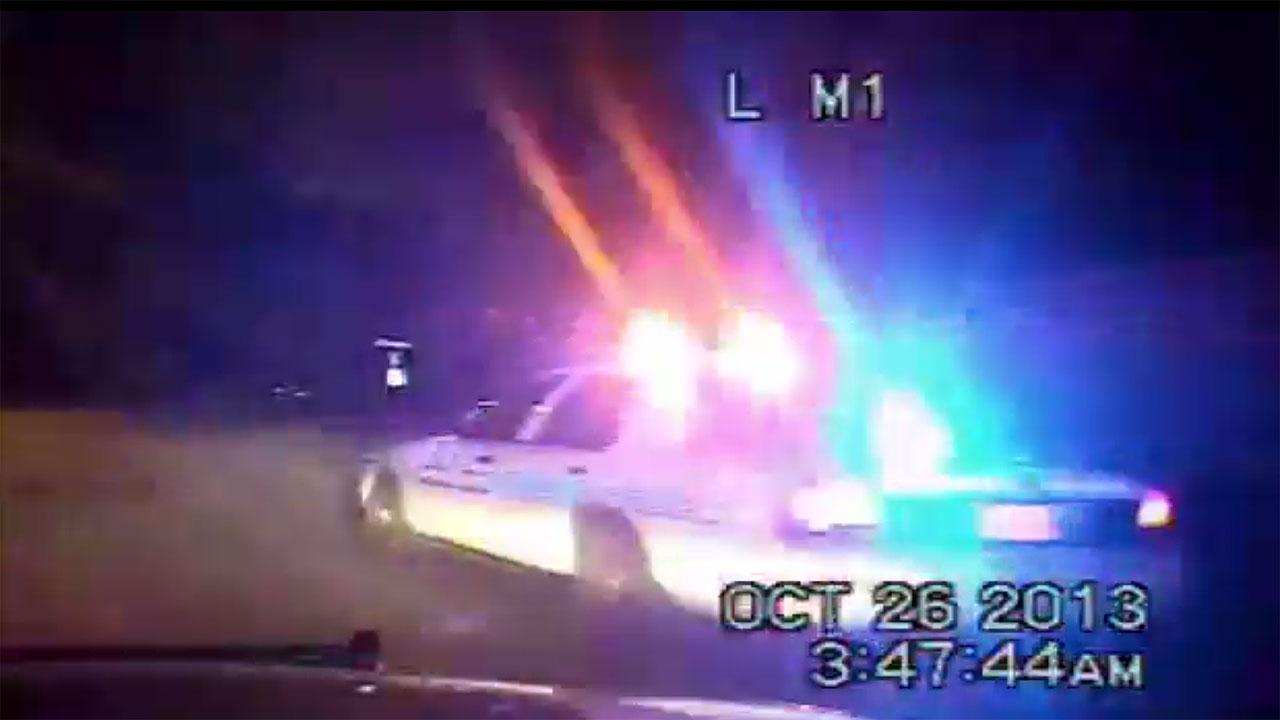 Dashcam video releleased in Stafford officer shooting
