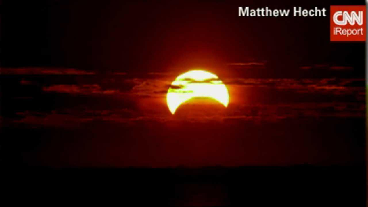 CNN iReport photo of rare hybrid eclipse on November 3, 2013