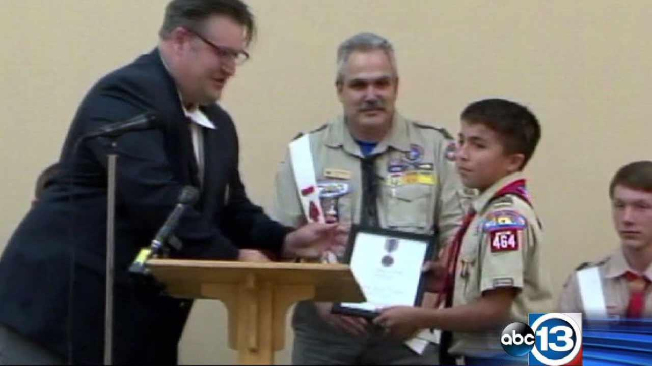 Boy Scout honored