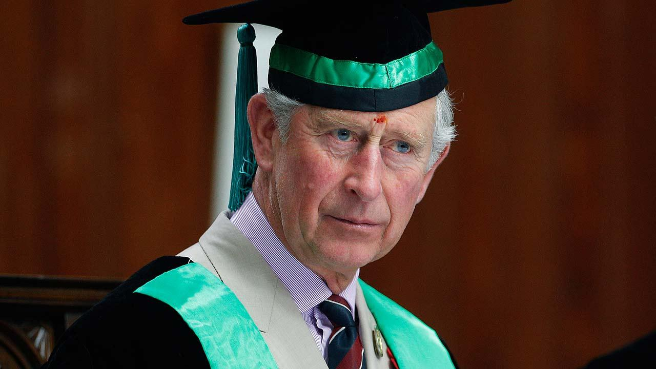 Britains Prince Charles attends a convocation where he was bestowed with an honorary degree in forestry