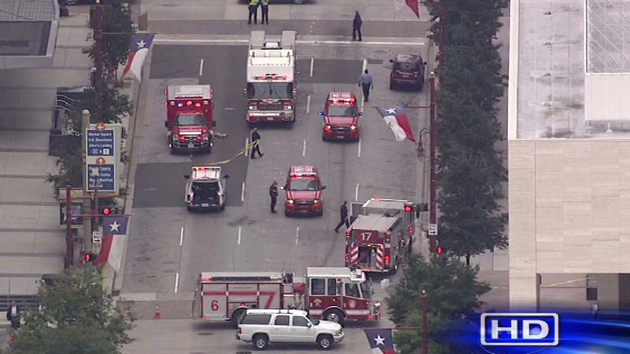 Chemical spill in downtown Houston