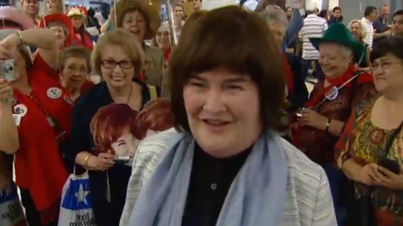 British singing sensation Susan Boyle gets warm reception in Houston