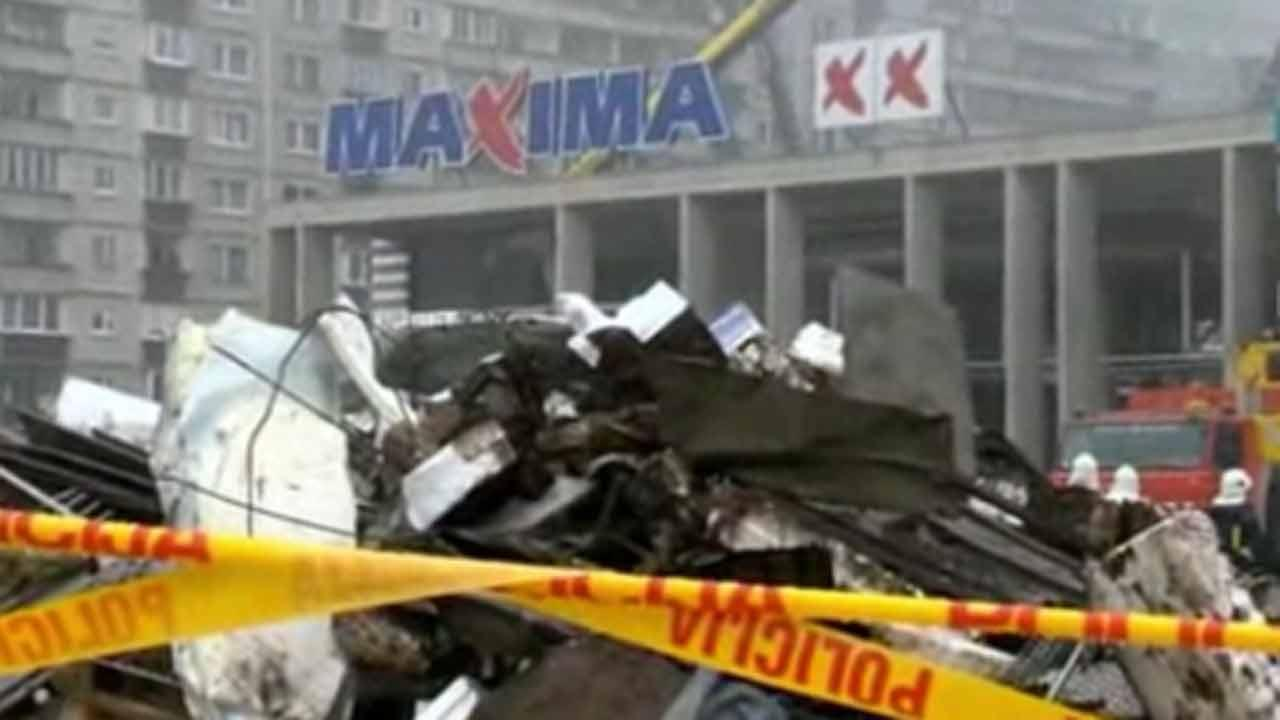Dozens dead in grocery roof collapse in Latvia