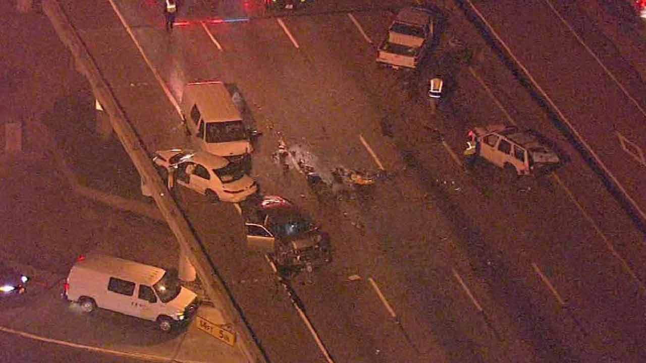 Multi-vehicle wreck