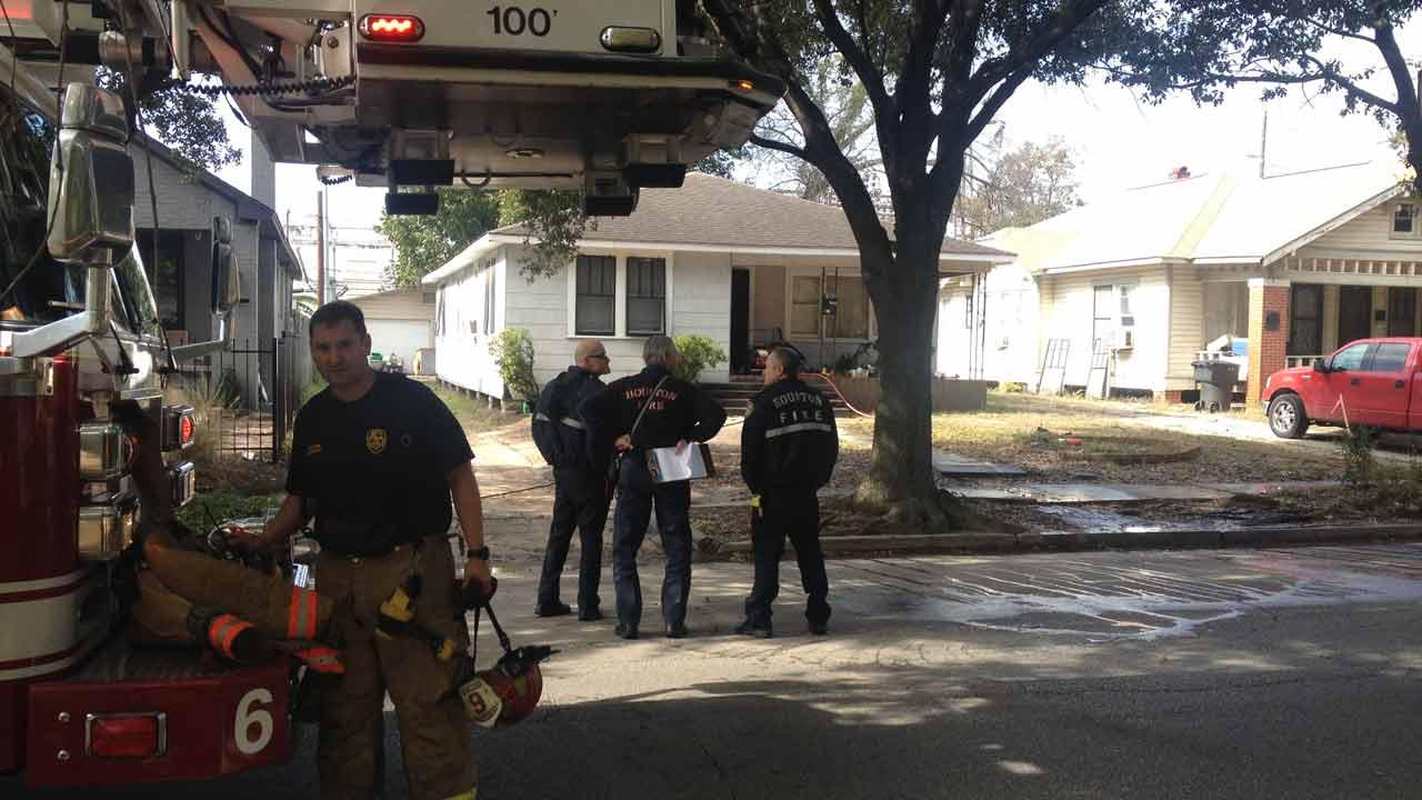 One person was taken to a nearby hospital after suffering burns.