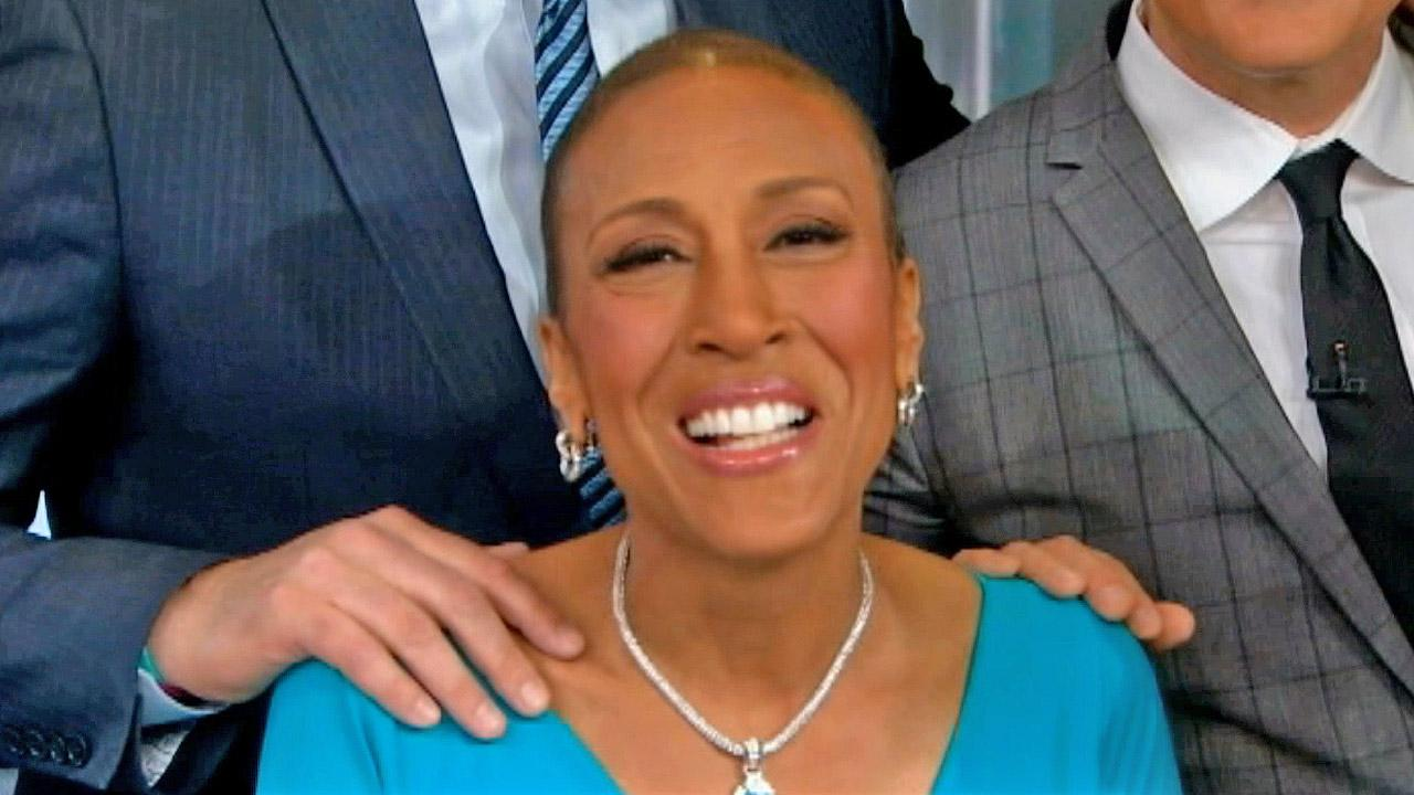 Robin Roberts returned to the Good Morning America anchor chair after a five month-long medical leave Wednesday, Feb. 20, 2013. <span class=meta>(ABC News)</span>
