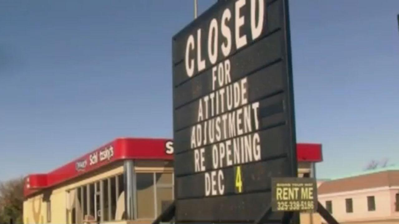 Store closed for employee attitude adjustment