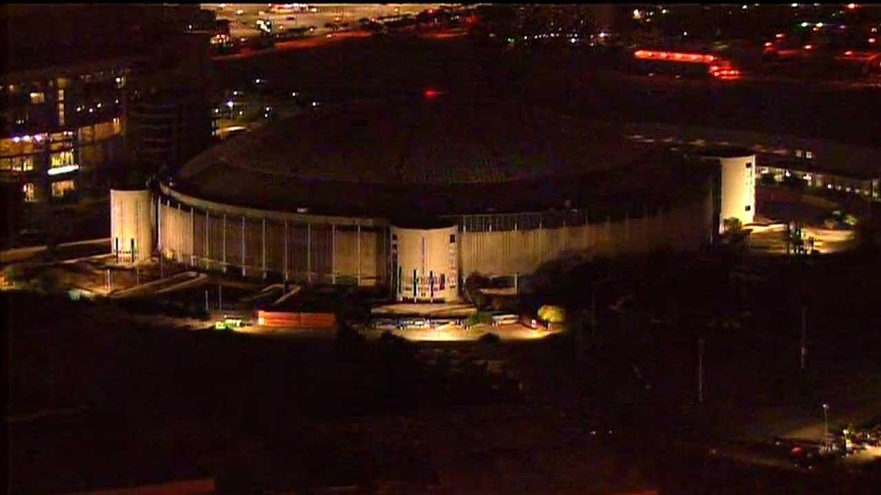 Astrodome towers demolished
