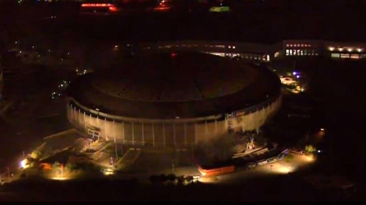 Three ramp towers on the exterior of the Astrodome were taken down with explosives on December 8, 2013. The circular towers were some of the most recognizable pieces of the stadium