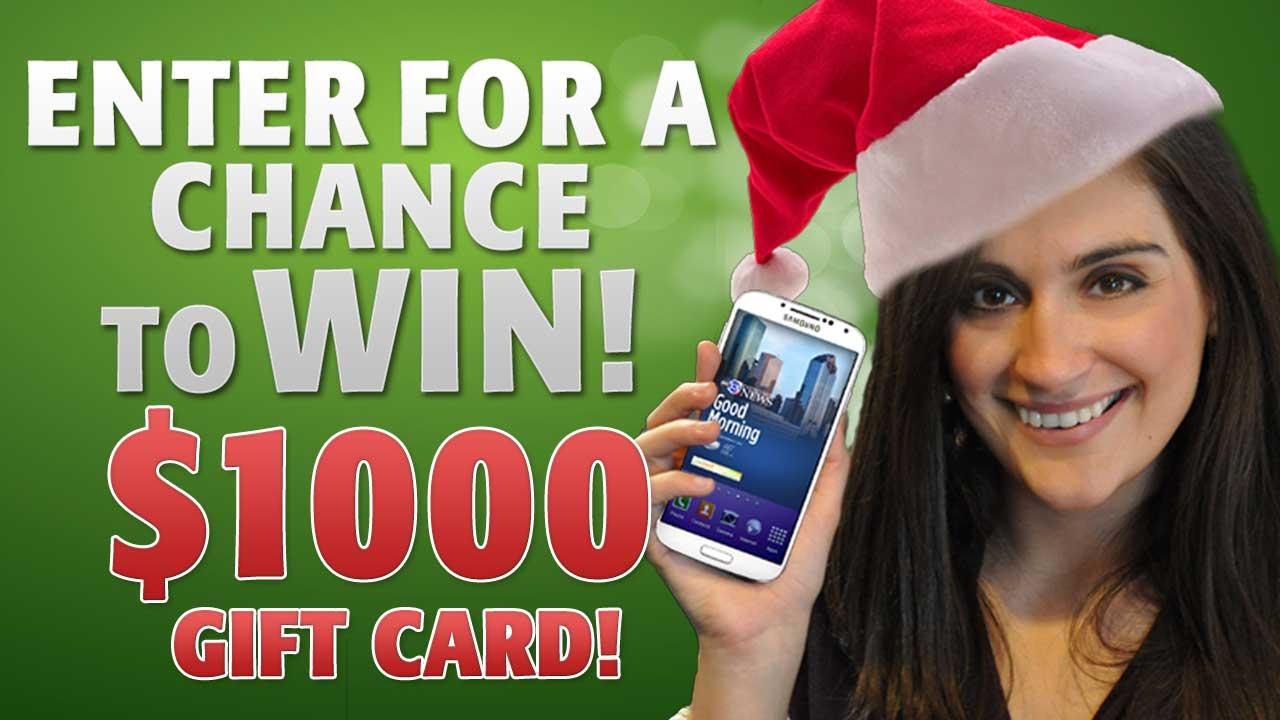 Register to win a $1,000 holiday gift card!