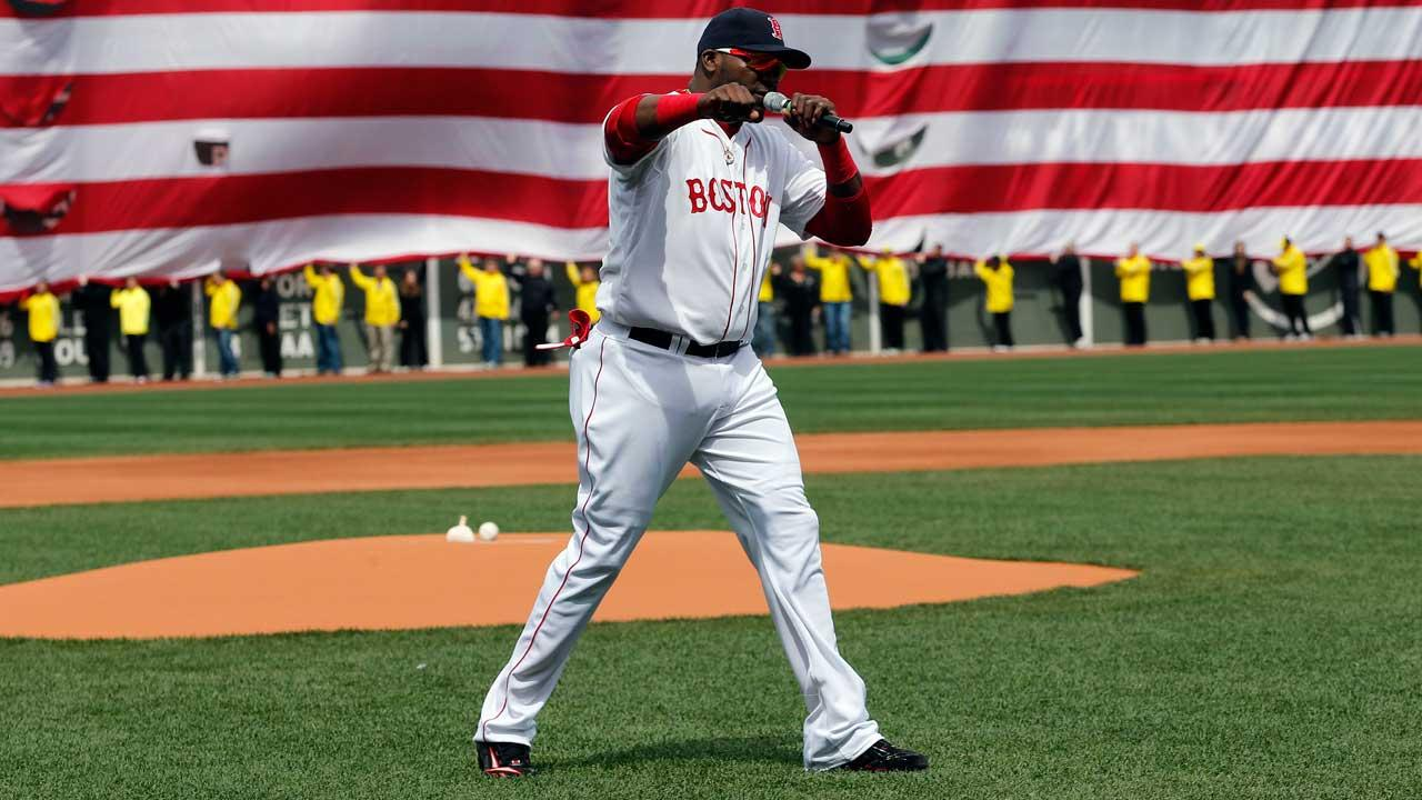 This is our (expletive) city.  And nobody is going to dictate our freedom. </p><P> - Boston Red Sox player David Ortiz, remarks to Fenway Park crowd after memorial service for Boston Marathon bombing victims, Apr. 20, 2013  <span class=meta>(AP photo)</span>