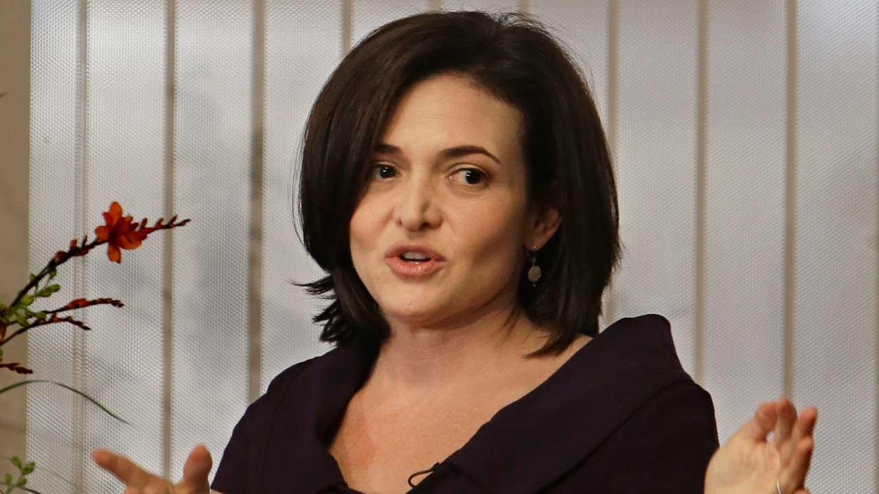 Lean In.</p><P>  - Facebook Chief Operating Officer Sheryl Sandberg, title of book published in 2013 AP photo