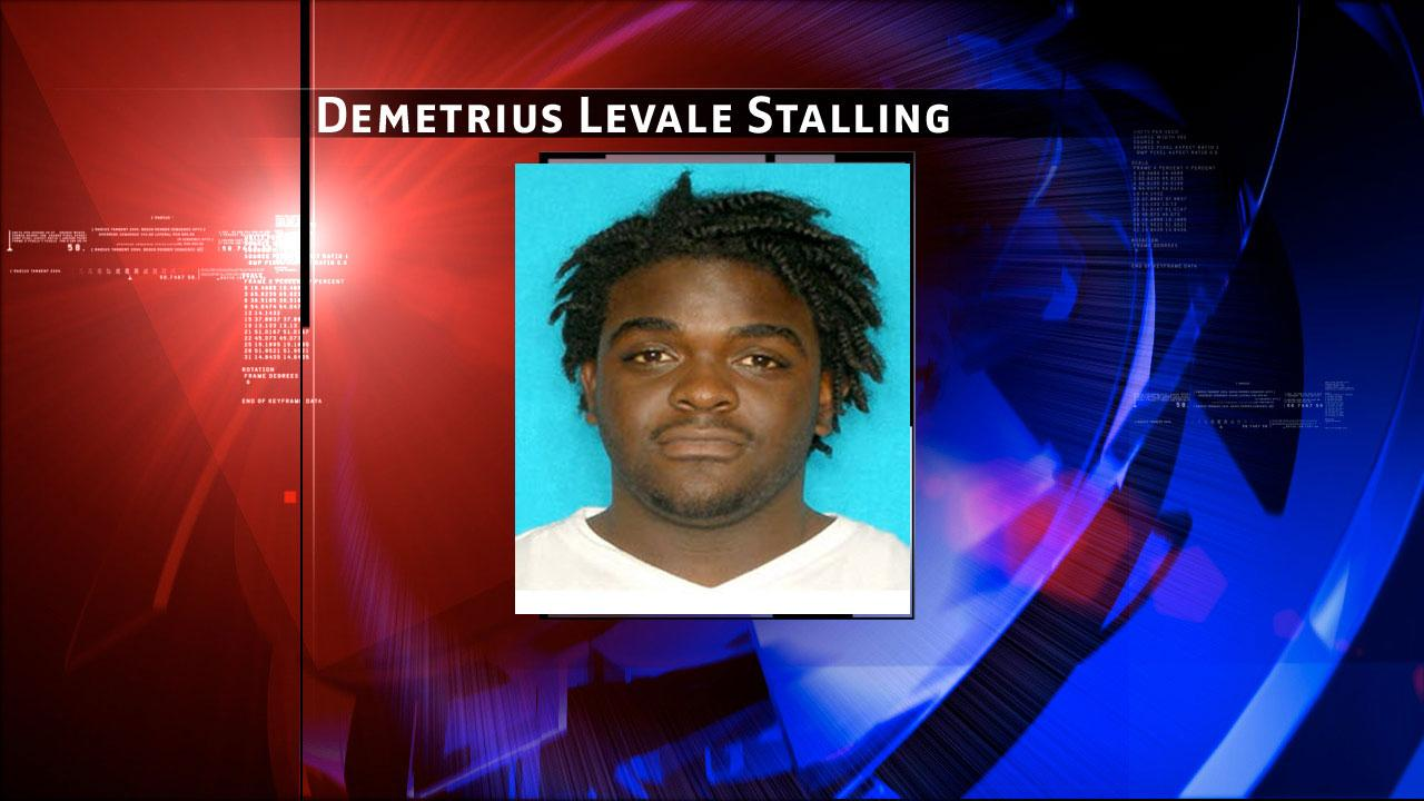 Demetrius Meach Levale Stalling, 22, of Houston, is the only suspect not in custody.
