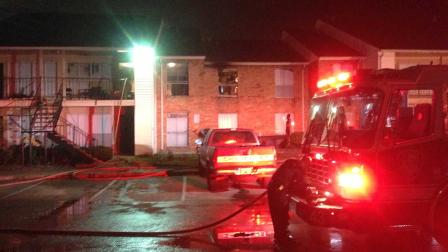 Apartment fire southwest Houston