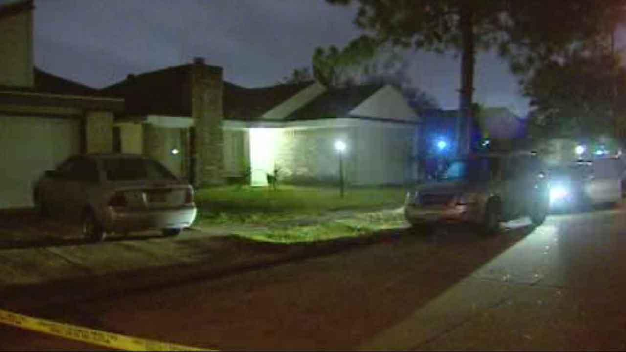 Police say two people were shot on this southwest Houston street, and the whole thing may have been caught on camera