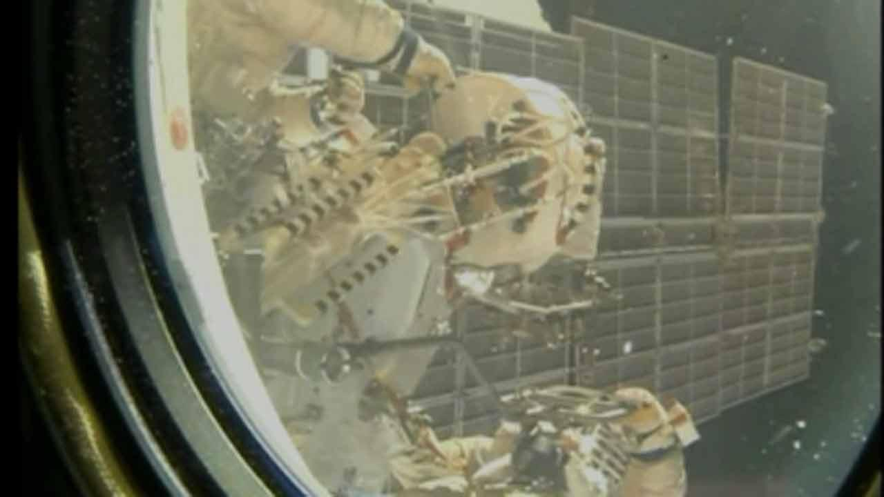 3rd spacewalk in a week to install cameras and perform other work on ISS
