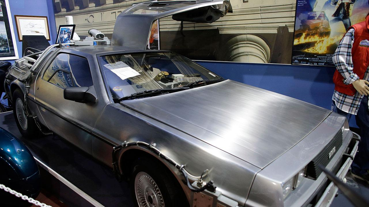 1982 Delorean Time Machine from the movie Back to the Future